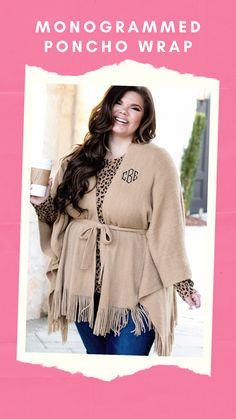 Be a trendsetter in our fringed poncho wrap with adjustable belt, available in black, gray, crimson, and camel to complement anything you wear. The stylish fringed hem and flattering belted waist make this piece a wardrobe must-have.