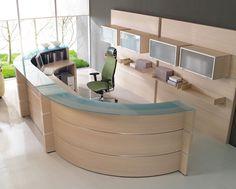 Ergonomic Reception Area Interior Design for Professional Office Design - http://www.designingcity.com/ergonomic-reception-area-interior-design-professional-office-design/