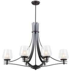 The Bella Collection is well known for quality, style and value; this traditional chandelier is no exception. Expertly pairing a charming graphite finish and energy saving halogen bulbs, this fixture is both functional and picturesque. Dining Room Light Fixtures, Dining Room Lighting, Linear Chandelier, Island Lighting, Bulb, Ceiling Lights, Traditional, Graphite, Design