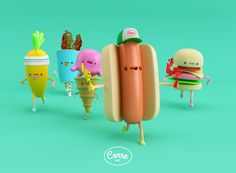 FOOD FOOD!!! by AARON MARTINEZ, via Behance