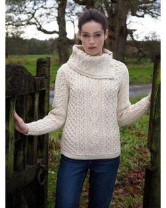 Aran Cowl Neck Sweater