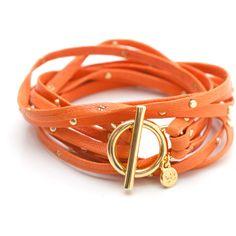 Gorjana / Graham Triple Strand Wrap Tigerlily ($57) ❤ liked on Polyvore featuring jewelry, bracelets, accessories, pulseiras, gioielli, women, wrap jewelry, gorjana, 18 karat gold jewelry and leather jewelry