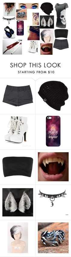 """""""Free Neko"""" by ninja-animexe ❤ liked on Polyvore featuring Rock Rebel, Alice + Olivia, UGG Australia, Casetify, Helmut Lang and Trend Cool"""