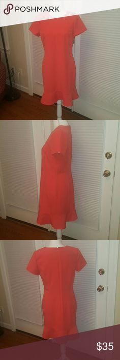 Ann Taylor coral career dress size 10P gorgeous Ann Taylor coral career style dress.  very cute and figure flattering. size 10 petite.  excellent condition, no signs of wear! Ann Taylor Dresses Midi