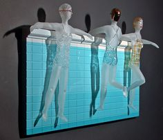 Karen Buhler's fun glass art!  I've coveted one of her blow up rafts for years.