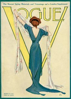 Vogue cover --- March 15, 1911 by J.G.