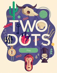 Owen Davey - Two Dots Downloadable App Game by Folio Art, via Behance I have an addiction. It is called two dots.
