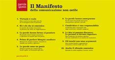 Il Manifesto della comunicazione non ostile Education, Teaching, Onderwijs, Learning