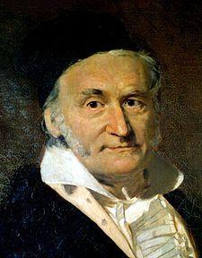 Carl Friedrich Gauss - (1777 - 1855) mathématicien, physicien et astronome allemand.
