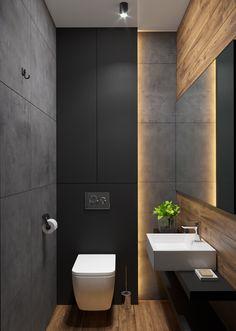 Interior Design Toilet, Small Toilet Design, Industrial Bathroom Design, Industrial Interior Design, Bathroom Design Small, Modern Bathroom, Toilet Plan, Luxury Toilet, Mini Bad