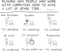 Friday Humor: Why computer workers have a lot of spare time