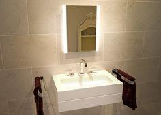 Katharyn Fog Free Bathroom/Vanity with Shaver Socket Wade Logan Bluetooth: Bluetooth/Ambient Brushed Nickel Bathroom Mirror, Unique Bathroom Mirrors, Custom Framed Mirrors, Mirror Shapes, Rgb Led, Circular Mirror, Bluetooth, Sink, Vanity
