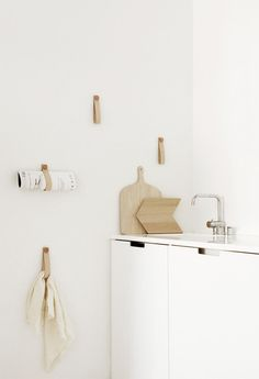 My Kitchen: Leather hangers by Susanna Vento