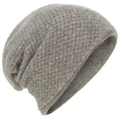 William Sharp Cashmere Waffle Knit Slouch Hat ($360) ❤ liked on Polyvore featuring accessories, hats, beanies, hair, head, slouch beanie, grey hat, slouch hat, cashmere beanie and grey slouch beanie