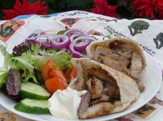 Greek-Style Pork Gyros Plate. Photo by Tea Jenny
