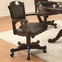 Casual Brown Cherry Wood Solid Back Arm Chair