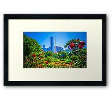 Melbourne Botanical Gardens in Springtime Framed Print