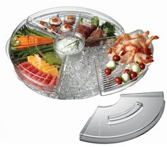Appetizers-On-Ice with Lids Serving Tray – KitchenRave