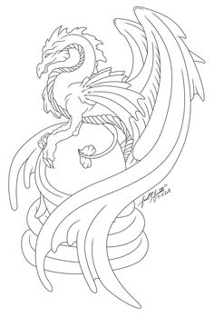 Dragon's Egg :Line Art: by ~PulseDragon on deviantART