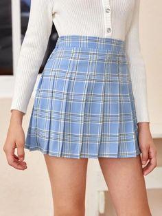 Girls Zipper Side Tartan Pleated Skirt – Kidenhouse Girls Sweater Dress, Girls Blouse, Girls Sweaters, Toddler Girl Shorts, Toddler Girl Dresses, Girl Skirts, Tartan Pleated Skirt, Leopard Print Skirt, Jumpsuits For Girls