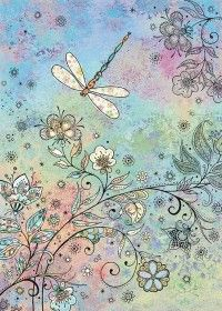 Quality greeting cards designed and published in the UK. Browse our ranges and shop online for decorative everyday designs and Christmas cards. Dragonfly Illustration, Dragonfly Drawing, Dragonfly Art, Mandala Drawing, Illustration Art, Dragonfly Wallpaper, Bug Art, Illustrations, Doodle Art
