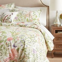 We love our Wildflower duvet covers and shams because they're pretty but tailored enough to warrant a home in your master bedroom. Set against a white background, delicate wildflowers abound on soft, 100% cotton. Know what else we love? They're machine-washable. See? There's a lot to love here.