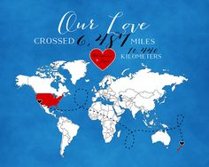 Long Distance Relationship Gift 8x10 by WanderingFables on Etsy, $27.99