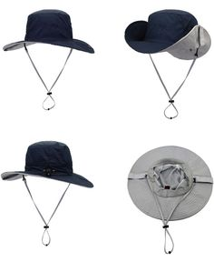 067385320f1 Windproof Fishing Hats UPF 50+ Wide Brim Sun Protection Hat Outdoor Mesh Fishing  Hat 56-61cm - Navy Blue A - CM185HS9QTN