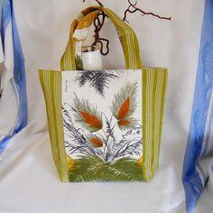 Vintage fabric Retro 'Grasses'' Shopper / Tote Bag  by audreyscat, £16.00