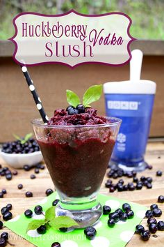 Huckleberry Vodka Slush | Zoku Slushie Recipe