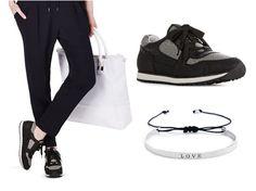Casual in den Feierabend. Wir lieben den Sneakertrend! JAZZ heißen unsere super coolen Sneaker <3 Das süße Armband ergänzt den lässigen Look optimal (DESTINY CALLS)