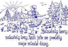 NÁSTĚNKY | Nástěnka 26 | Předtisky na vyšívání - Olga Synková Helga Embroidery Ideas, Punch, Coloring, Alcoholic Punch