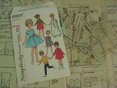 ORIGINAL doll Clothes PATTERN 6207 for Penny Brite Miss Cindy Muffie 8 inch doll