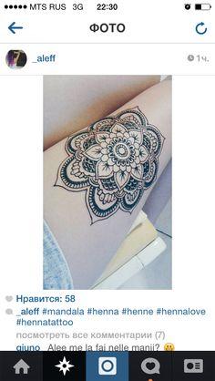 Henna art design on leg