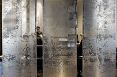 Best Ideas For Perforated Metal Screen Room Dividers Screen Design, Wall Design, Design Room, Partition Screen, Divider Screen, Partition Ideas, Casa Loft, Space Dividers, Office Pictures