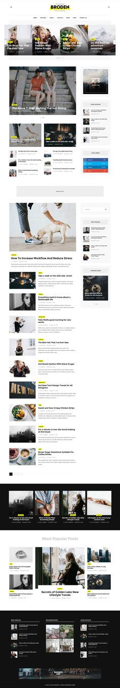 Broden - Lifestyle Blog - Magazine Wordpress Theme. Live Preview & Download: https://themeforest.net/item/broden-lifestyle-blog-magazine/15407598?ref=ksioks