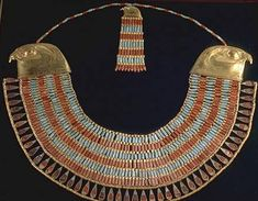 "COSTUME RESEARCH: EGYPTIAN WOMAN ""COLLAR OF NEFERUPTAH"" Middle Kingdom, 12th Dynasty The Egyptian Museum, Cairo, Egypt http://www.touregypt.net/egyptmuseum/egyptian_museumR6.htm Worn by Princess Neferuptah in her sarcophagus."