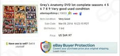 Grey's Anatomy DVDs - these were mine. Switched to Netflix so I sold them.