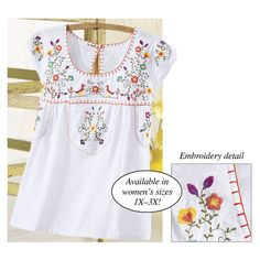 Embroidered Peasant Top - Gifts, Clothing, Jewelry, Home Decor and Home Furnishings as Featured in Popular Catalogs | Catalog Favorites