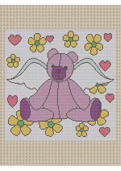 Angel Bear Crochet Graph Pattern