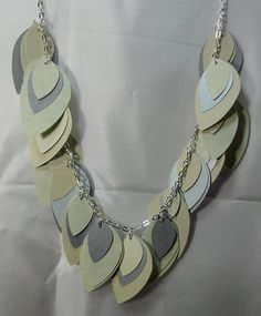 Paper Necklace Teardrop Shape from beccasblend by beccasblend on Etsy