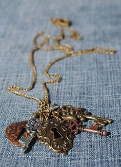"""""""It's a lot easier to be lost than found. It's the reason we're always searching and rarely discovered--so many locks, not enough keys.""""  To view all available jewelry, click here: https://www.etsy.com/shop/CrystalCharriere?section_id=14535807"""