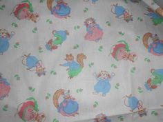 4-Yds-Quilt-Cotton-Fabric-Fabric-Traditions-Vintage-1991-JULES-JOURNEY-MICE