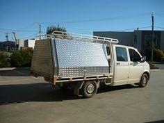 Two door fixed aluminiun canopy and tradesman rack - No.32