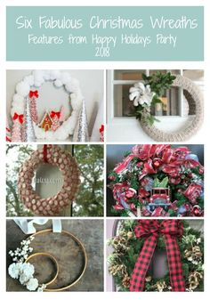 Do-it-yourself Solar Power - A Primary Manual For Beginners 6 Fabulous Christmas Wreaths Features From Happy Holidays Link Party 2018 Christmas Makes, Simple Christmas, Family Christmas, Christmas Wreaths, Christmas Crafts, Christmas Ideas, Diy Craft Projects, Crafts For Kids, Diy Crafts