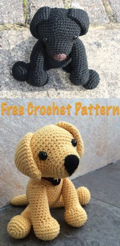 How to crochet your own toy Lab puppy, with simple instructions. By Lucy Kate Crochet. Crochet Stitches Patterns, Crochet Patterns Amigurumi, Crochet Dolls, Crochet Lovey, Free Crochet, Stuffed Animal Patterns, Crochet Animals, Crochet Projects, Labrador Facts