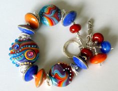 rainbow beaded bracelet...love the colors!