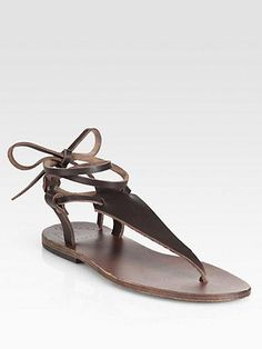 Ishvara tie-up leather sandals from Saks Fifth Avenue