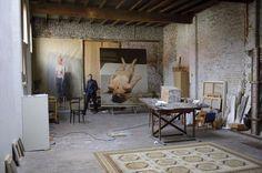 Michael Borremans in his studio