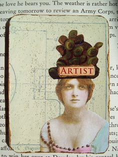 Found from a pinterest page entitled, artist's calling cards.Vintage ATC- Glitter by gillmangirl, via Flickr